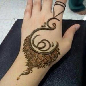 نقش حناء حروف عربيه